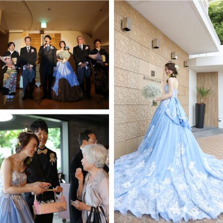 カラードレス 結婚式