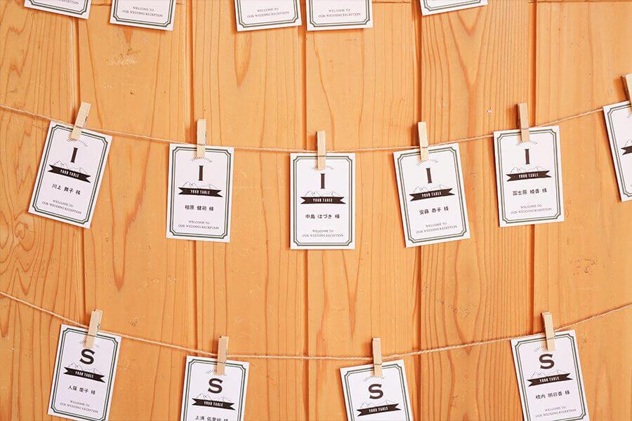ゲストみんなの名前が書かれたカード