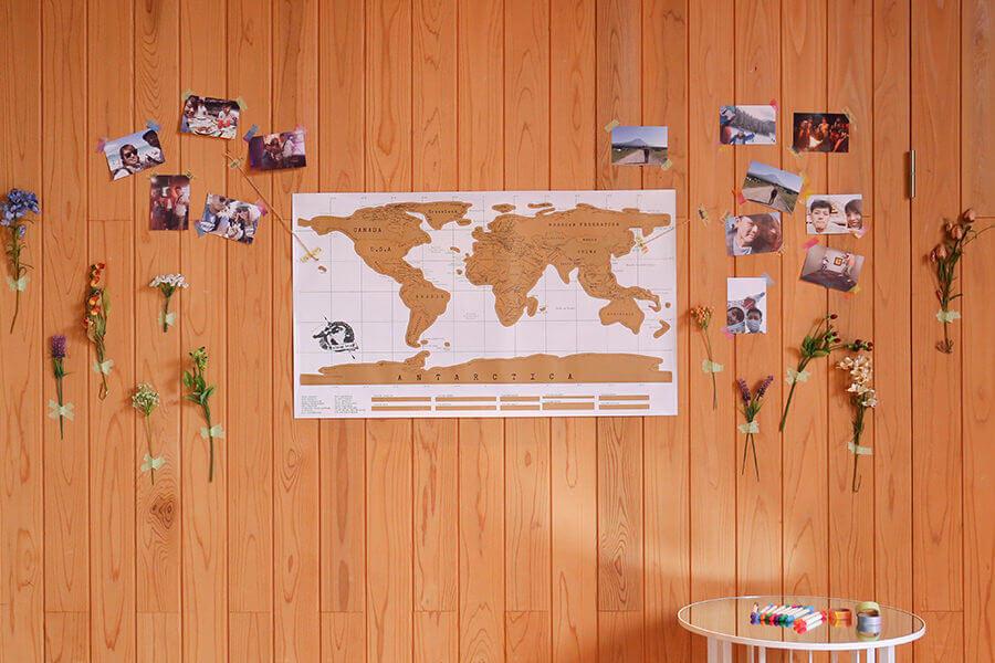 ウエルカムボード 世界地図