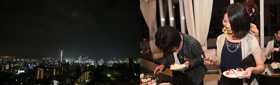 神戸の夜景 デザートタイム