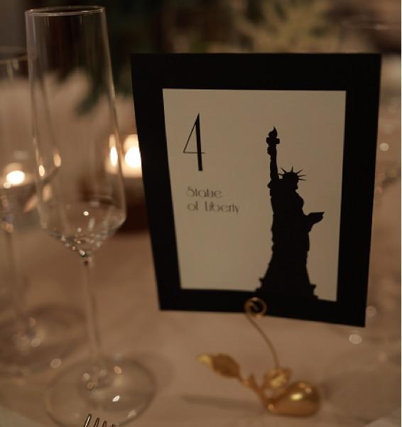 テーブルサインはNYのシンボル